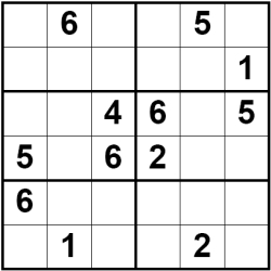 Sudoku  Kids Printable on Popular Size Of Sudoku Grid With Children Is The 6 X 6 Sized Sudoku