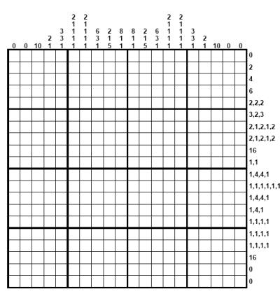 hanjie puzzle