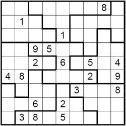 Jigsaw Sudoku Puzzle