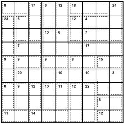 killer sudoku puzzle
