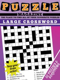 large print crossword magazine