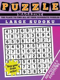 Large Print Sudoku magazine