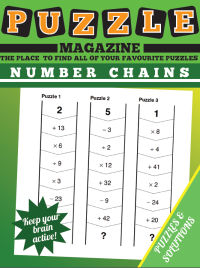 Home Learning: Number Chain Mental Arithmetic Puzzles magazine