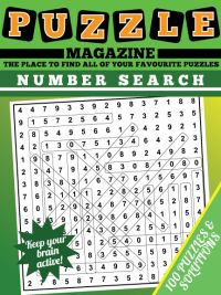 Number Search Puzzle Magazine magazine