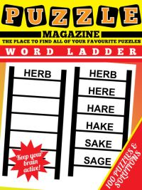 Word Ladder Puzzle Magazine magazine