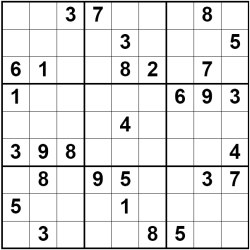 Example X-Wing Sudoku Puzzle